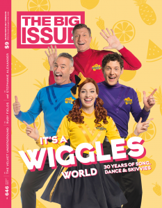 The Wiggles on the Cover of The Big Issue.